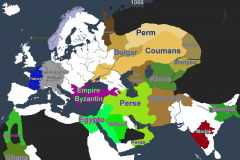 Rédacteurs d'Etats sur carte - exemple couleur